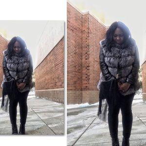 Faux Fox Fur Jacket Size XL